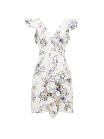Winnie Frill A-line Mini Dress