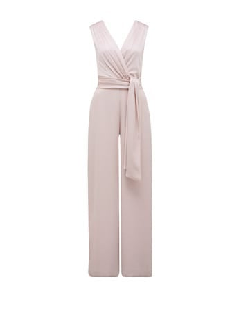 Avery Satin Drape Jumpsuit