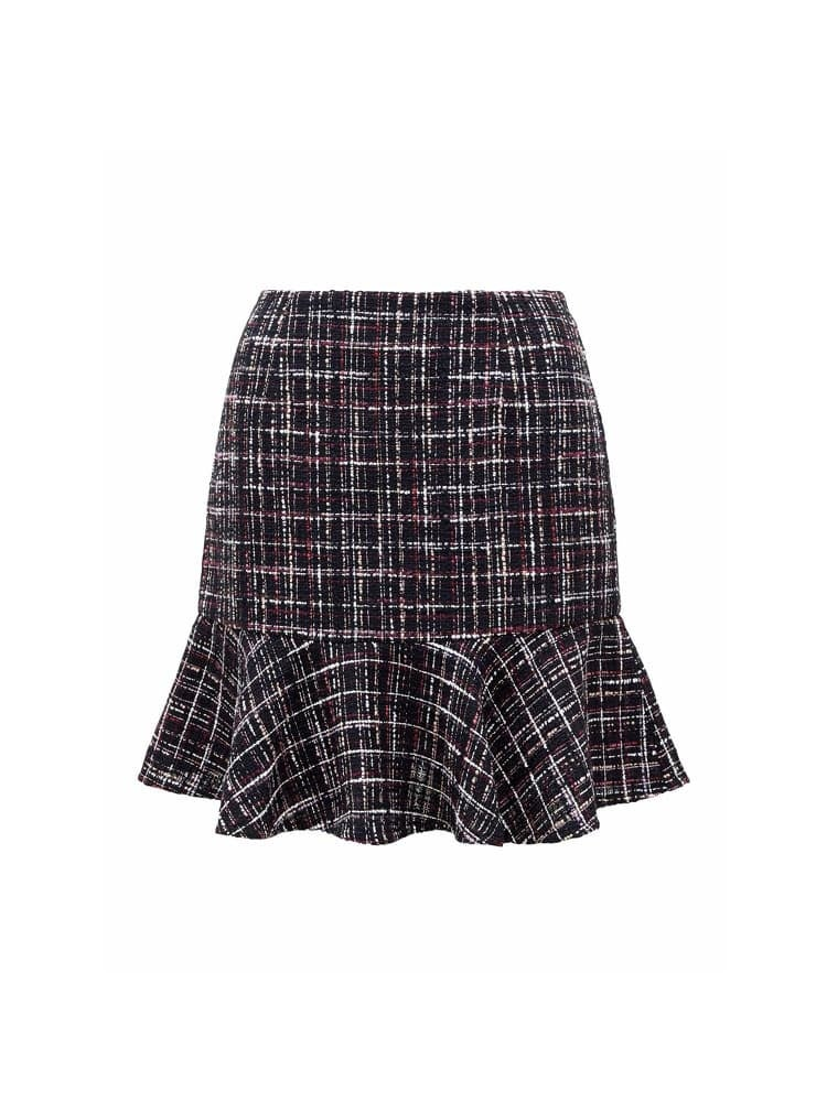 Cleo Fit and Flare Bouclé Skirt