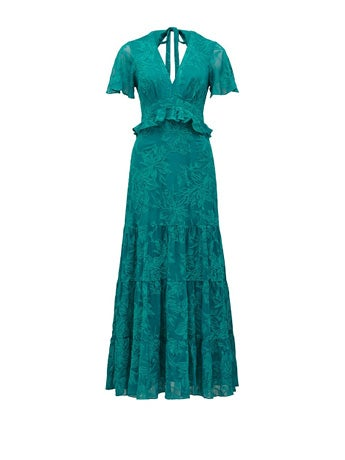 Ida Embroidered Tiered Maxi Dress