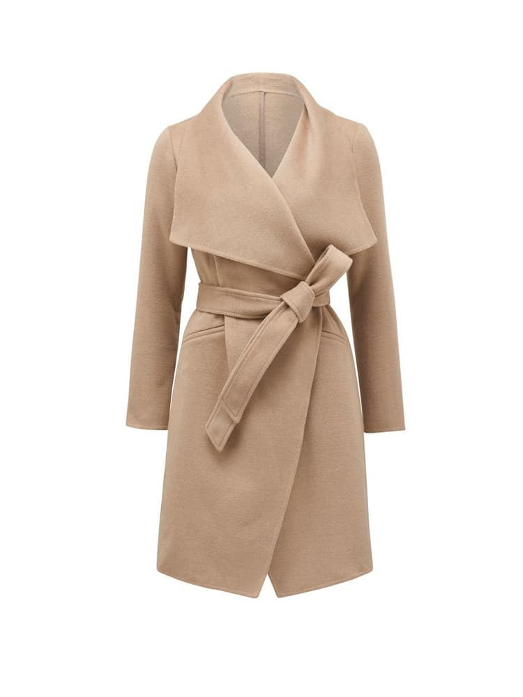Megan Felled Seam Wrap Coat