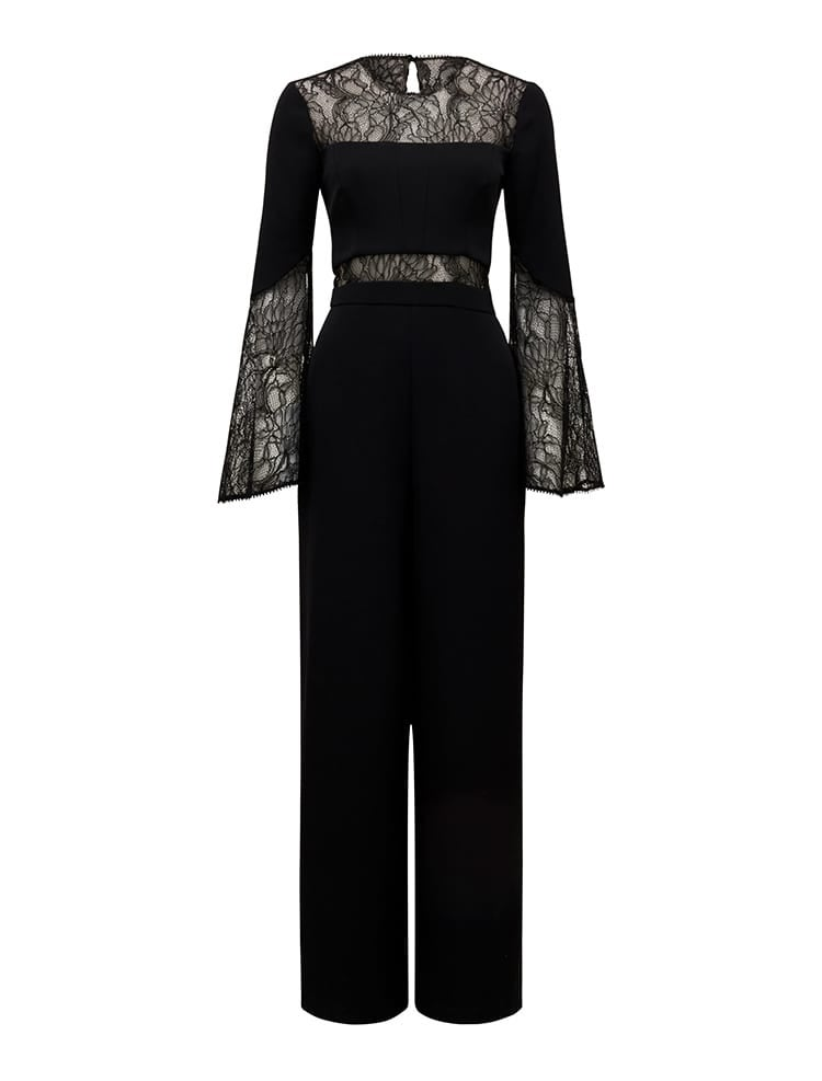 Ryder Lace Flare Sleeve Jumpsuit