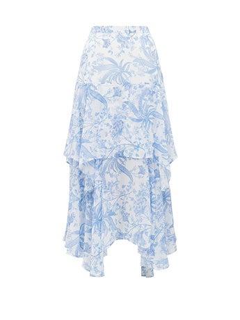 Avery Tiered Midi Skirt