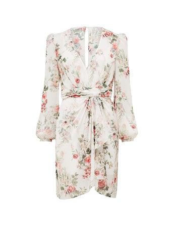 Darcy Long-Sleeve Printed Dress