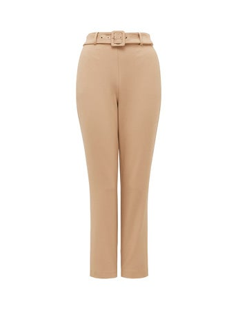 Emelia High-Waist Belted Pants