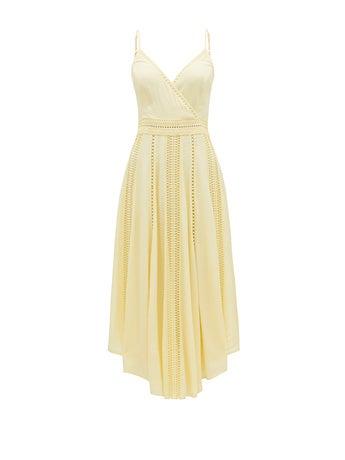 Naomi Lace Insert Midi Dress