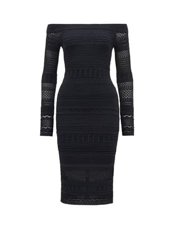 Sheana Lace Stitch Knitted Dress