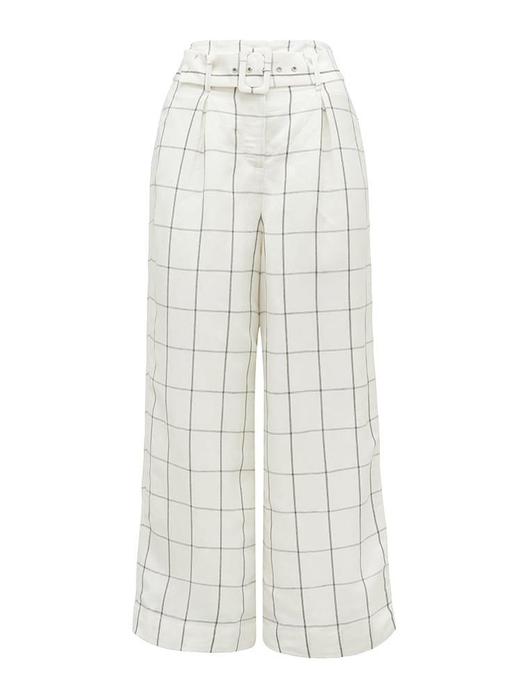 Hartz Co-ord Linen Blend Belted Pants