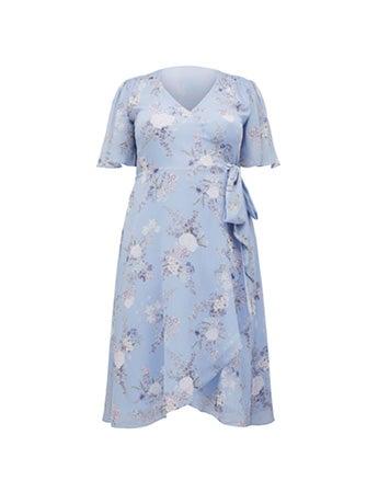 Ebony Curve Ruched Wrap Dress