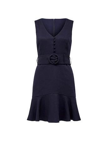 Pauline Belted Flippy Hem Dress