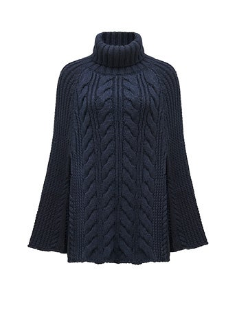 Eleanor Cable Knit Poncho