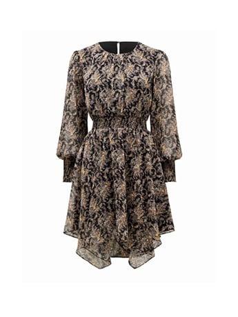 Molly Hanky Hem Paisley Dress