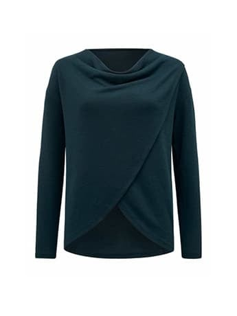 Heather Cowl Neck Top