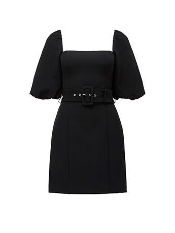 Henley Puff Sleeve Mini Dress