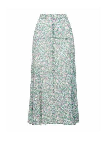 Bronte Button Front Midi Skirt