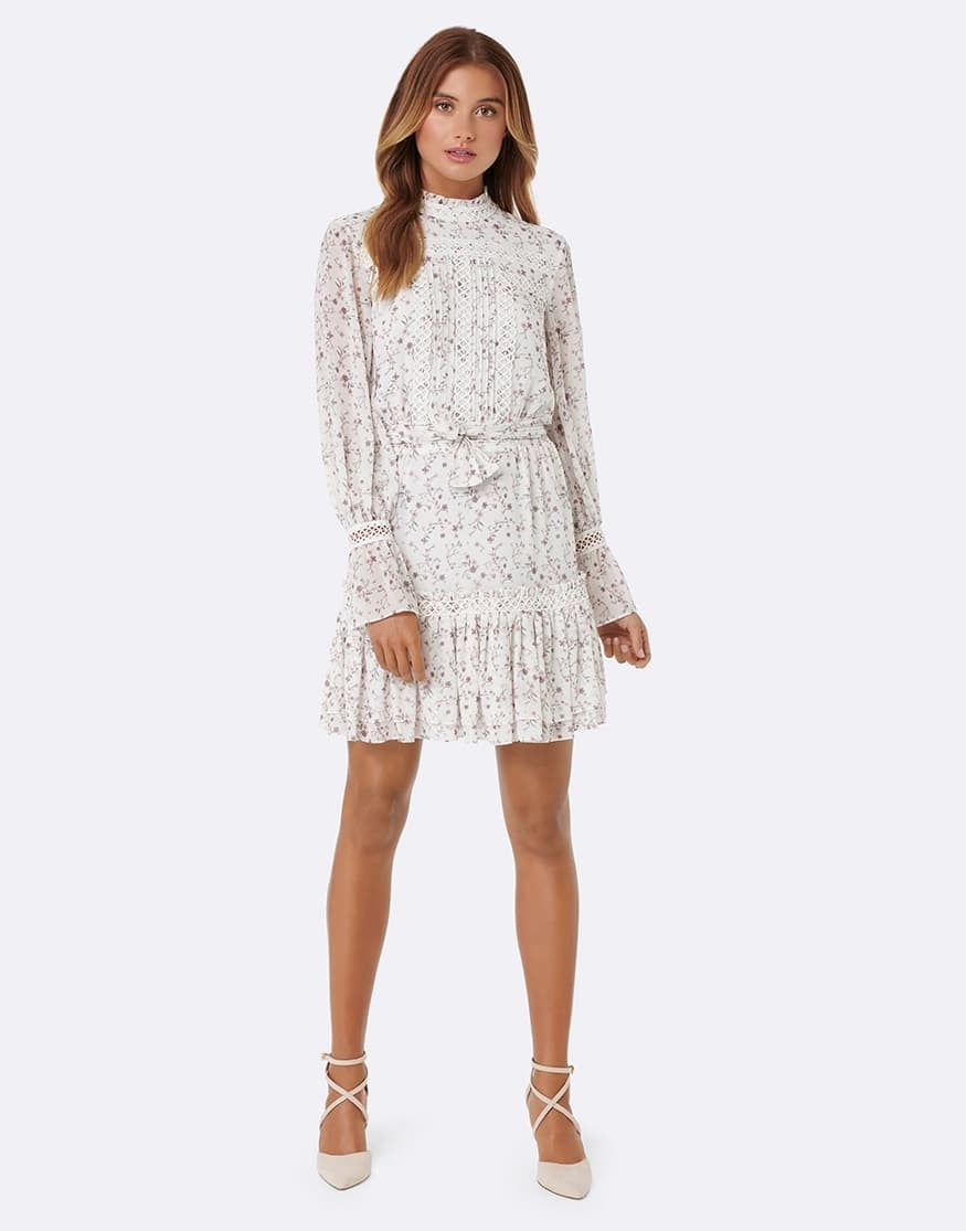 Harlie Pintuck Shirring Dress