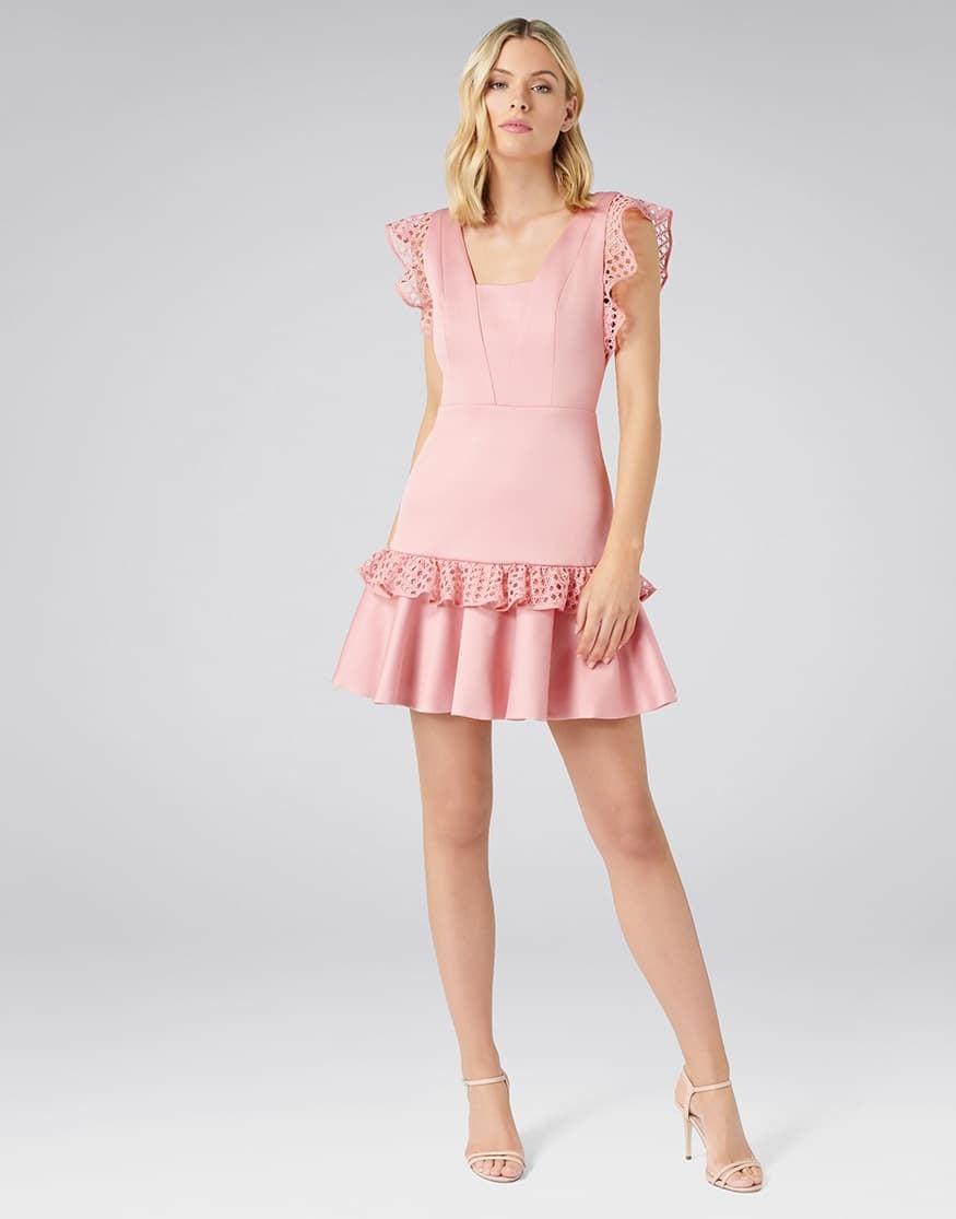 Kady Lace Trim Dress