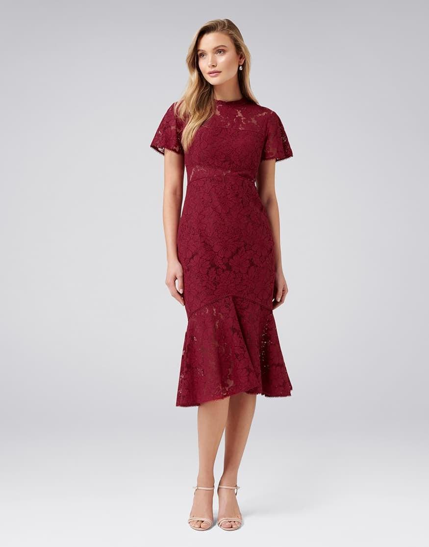 Venice Lace Midi Dress