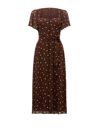 Cassidy Flutter Sleeve Midi Dress