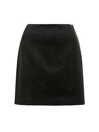Peyton Seamed Faux Leather Mini Skirt