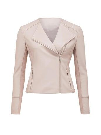 Nina Collarless Biker Jacket