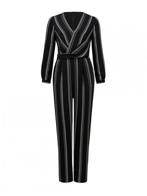 Logan Twist Front Stripe Jumpsuit
