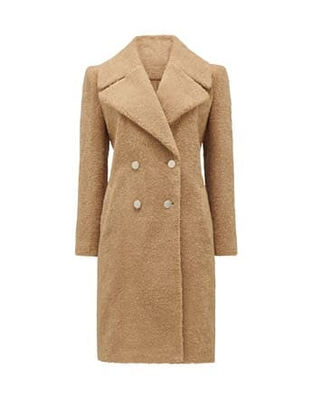 Cara Long Borg Coat