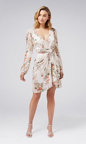 <b>Darcy</b><br>Long-Sleeve<br>Printed Dress