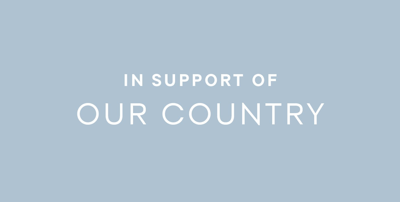 in support of our country