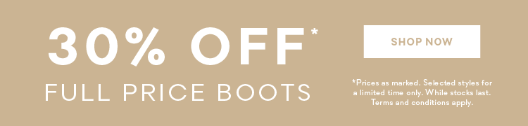 womens boots 30% off