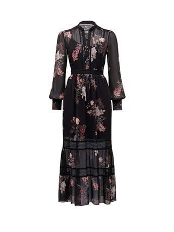 Pipa Lace Insert Maxi Dress