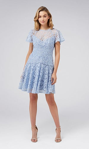 <b>Lorna</b><br>Embroidered<br>Lace Skater Dress