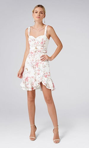 <b>Miley</b><br>Belted Frill Hem Dress