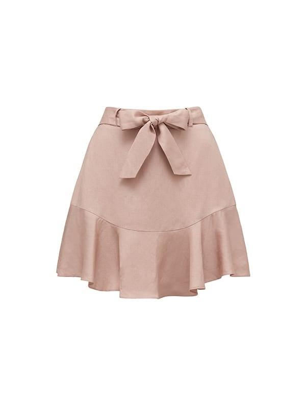 Tina Linen Blend Flippy Skirt