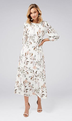 <b>Reagan</b><br>Open-Back Midi Dress