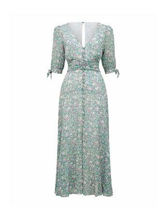 Sadie Tie-Detail Maxi Dress