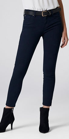 LOW RISE HANNAH SKINNY CROP JEANS