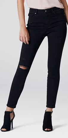 HIGH RISE LILY ANKLE GRAZER JEANS