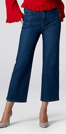HIGH RISE LOTTIE CROPPED WIDE LEG JEANS