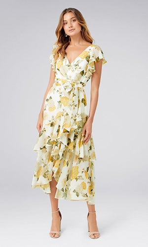<b>Tiffany</b><br>Wrap Midi Dress