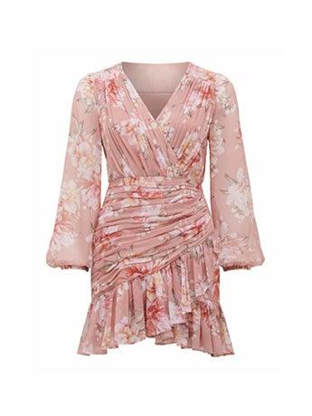 Valentina Petite Pleated Mini Dress