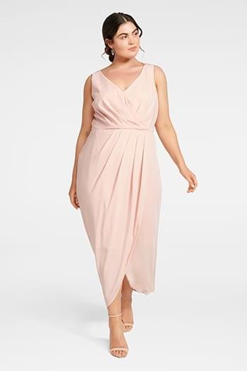 <b>Vienna</b><br>Formal Wrap<br>Curve Dress
