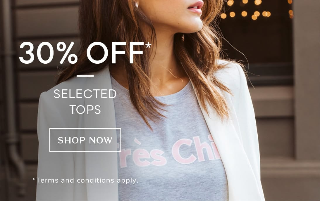 30% off selected styles
