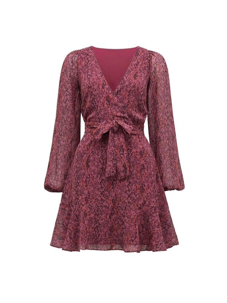 Sophia Wrap Mini Dress