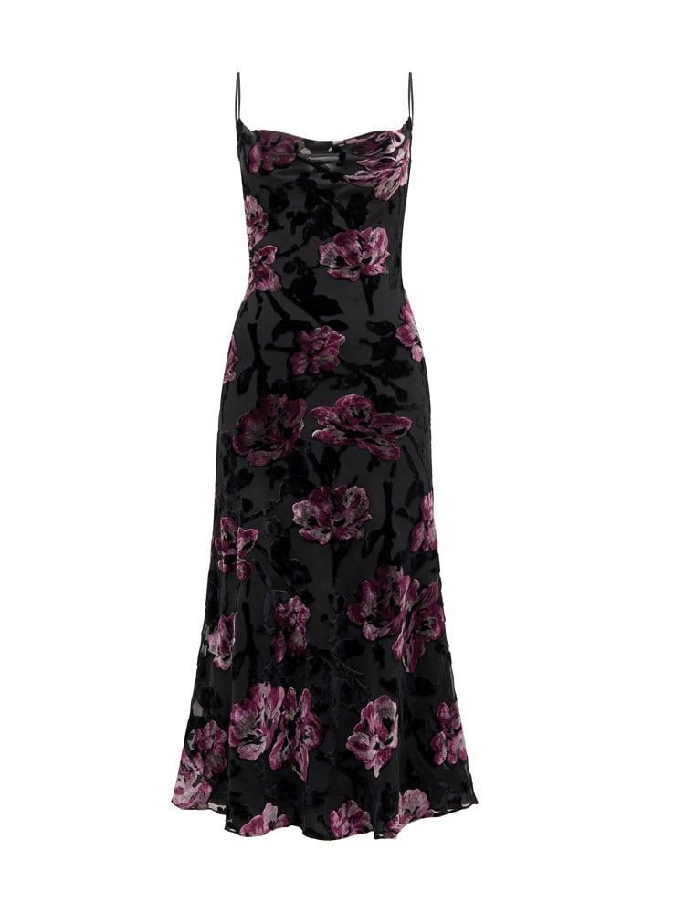 Ava Velvet Burnout Slip Dress