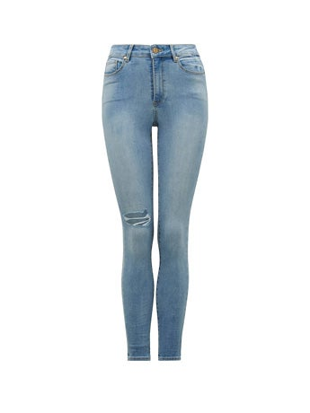 Zoe Mid-Rise Ankle Grazer Jeans