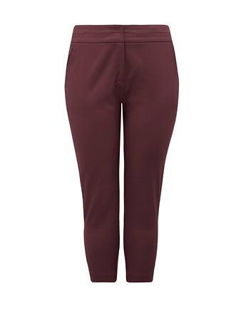 Audrey Curve High-Waist Cropped Pants