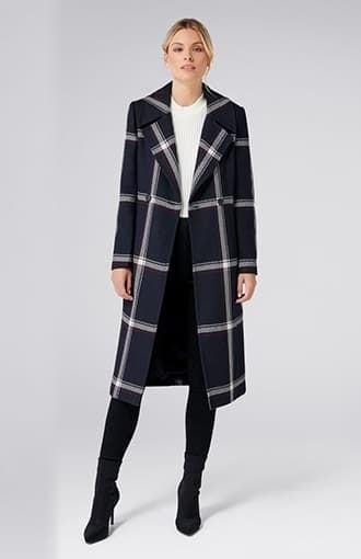 Quinn Check Coat