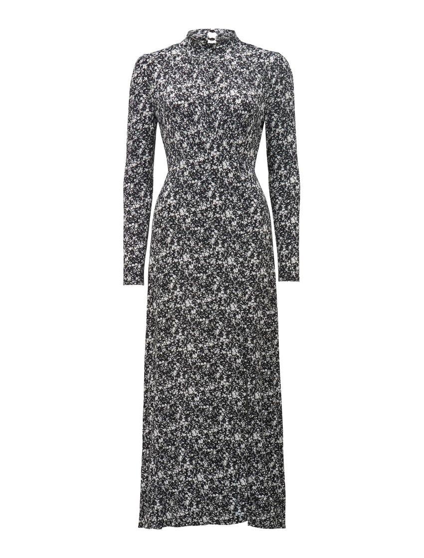 Dawson High-Neck Midi Dress