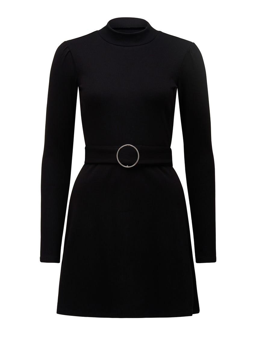 Gia Rib Belted Mini Dress